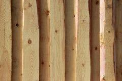 Struttura della priorit? bassa Nuova parete di legno leggera fatta dei bordi fotografia stock libera da diritti