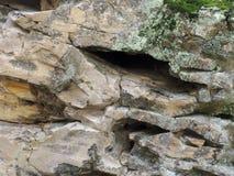 Struttura della roccia con le crepe Immagine Stock