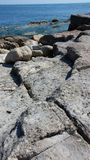 Struttura della roccia del primo piano immagine stock