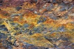 Struttura della roccia vulcanica Immagini Stock