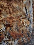 Struttura della ruggine del metallo, fondo astratto di lerciume Fotografia Stock Libera da Diritti