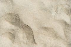 Struttura della sabbia sulla spiaggia Fotografia Stock