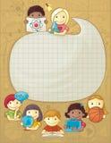 Struttura della scuola con i bambini royalty illustrazione gratis