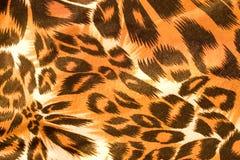 Struttura della seta del leopardo Fotografia Stock Libera da Diritti