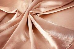 Struttura della seta rosa dell'oro come fondo, Fotografia Stock Libera da Diritti