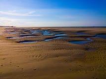 Struttura della spiaggia di Langeoog Fotografia Stock Libera da Diritti