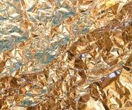 Struttura della stagnola di oro Immagine Stock Libera da Diritti