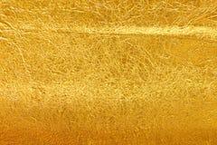 Struttura della stagnola di oro Fotografia Stock