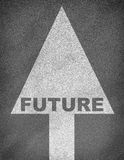 Struttura della strada asfaltata con la freccia ed il futuro di parola illustrazione vettoriale