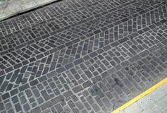 Struttura della strada del cobblestone Immagini Stock