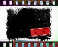 Struttura della striscia di pellicola di lerciume con la sgocciolatura Retro elemento di disegno Immagini Stock