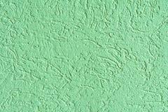 Struttura della superficie della parete coperta di gesso decorativo del tipo del tarlo Fotografie Stock Libere da Diritti