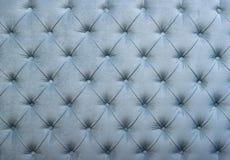 Struttura della tappezzeria del tessuto trapuntata capitone blu Fotografia Stock Libera da Diritti