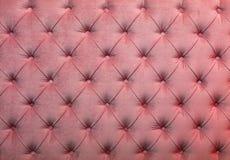Struttura della tappezzeria del tessuto trapuntata capitone rosa Fotografia Stock Libera da Diritti