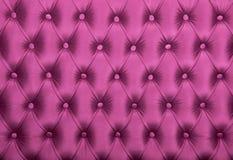 Struttura della tappezzeria del tessuto trapuntata capitone rosa Immagine Stock Libera da Diritti