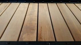 Struttura della tavolozza di legno nella vista di prospettiva Immagini Stock Libere da Diritti