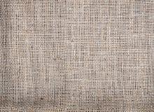 Struttura della tela di sacco per fondo fotografia stock