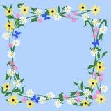 Struttura delle farfalle e dei fiori royalty illustrazione gratis