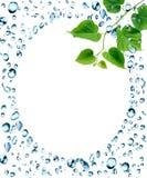 Struttura delle gocce di acqua Immagini Stock Libere da Diritti