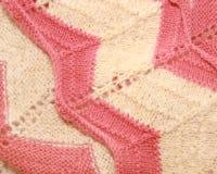 Struttura delle lane lavorate a maglia Fotografie Stock Libere da Diritti