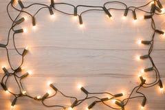 Struttura delle luci di Natale Fotografia Stock Libera da Diritti