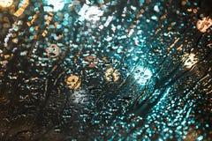 Struttura delle luci e della pioggia Fotografia Stock Libera da Diritti