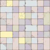 Struttura delle mattonelle di pietra di colori pastelli, parete di pietra del fondo senza cuciture Illustrazione di vettore per l illustrazione vettoriale