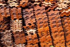 Struttura delle mattonelle di tetto Immagini Stock Libere da Diritti