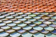 Struttura delle mattonelle di tetto del tempio Immagini Stock