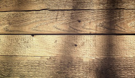 Struttura delle plance di legno su luce solare Fotografie Stock