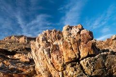 Struttura delle rocce sconosciute del masso fotografie stock libere da diritti