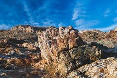 Struttura delle rocce sconosciute del masso fotografia stock libera da diritti