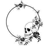 Struttura delle rose e del cranio Fotografia Stock Libera da Diritti