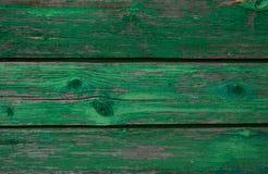 Struttura delle schede di legno Pelatura della pittura verde Immagini Stock Libere da Diritti