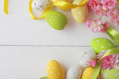 Struttura delle uova di Pasqua Fotografia Stock Libera da Diritti