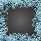 Struttura dello sciampo delle bolle realistiche dell'acqua Immagine Stock