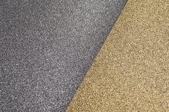 Struttura dettagliata della superficie brillante della polvere di oro e dell'argento per natale fotografia stock libera da diritti