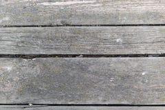 Struttura dettagliata Vecchio fondo di legno grigio stagionato della parete della plancia Fotografia Stock Libera da Diritti