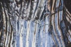 Struttura di alluminio dell'albero, alluminio lucidato e giunti della saldatura sotto il chiaro cielo Fotografia Stock Libera da Diritti