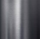 Struttura di alluminio scura spazzolata del metallo Immagini Stock