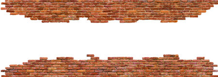Struttura di alta qualità del muro di mattoni, isolata su bianco Immagini Stock