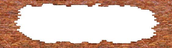 Struttura di alta qualità del muro di mattoni, isolata su bianco Fotografia Stock