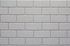 Struttura di alta risoluzione di un muro di mattoni bianco Stenditura dell'orizzontale Fotografie Stock