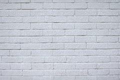 Struttura di alta risoluzione di un muro di mattoni bianco Stenditura dell'orizzontale Immagine Stock Libera da Diritti