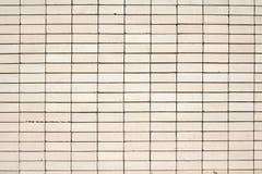 Struttura di alta risoluzione di un muro di mattoni bianco Stenditura dell'orizzontale Immagini Stock Libere da Diritti
