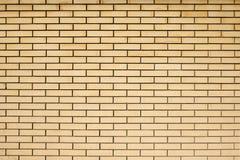 Struttura di alta risoluzione di un muro di mattoni giallo Stenditura del horizonta Immagini Stock Libere da Diritti
