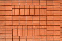 Struttura di alta risoluzione di un muro di mattoni rosso Stenditura dell'orizzontale t Fotografie Stock Libere da Diritti