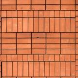 Struttura di alta risoluzione di un muro di mattoni rosso Stenditura dell'orizzontale t Fotografia Stock Libera da Diritti