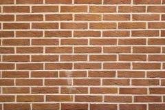 Struttura di alta risoluzione di un muro di mattoni rosso Stenditura dell'orizzontale t Immagini Stock Libere da Diritti