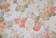 Struttura di Art Flora sul fondo bianco del tessuto Fotografia Stock
